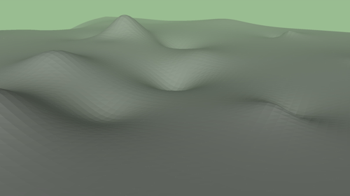 An intermediate rendering of the landscape done with SketchUp